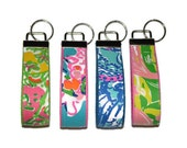 Wristlet Key Chain made with Lilly Pulitzer for Target Fabric