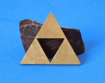 Triforce Pendant in Brass.