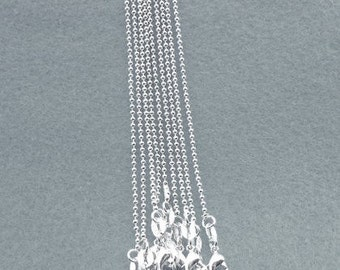 Sterling Silver Tiny,1mm Bead Chain, 20 Inches Long