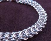 Flat Full Persian Bracelet - Chain Maille - Classic Weave - Unisex