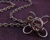 Trapped - Tiny Steampunk Chain Maille Pendant - Chain Included
