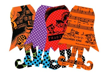 Digital Halloween Collage Sheet 28 Witch Skirts