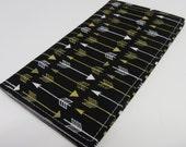 Checkbook Cover - Metallic Arrows on Black
