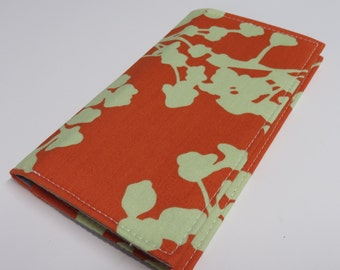 Checkbook  Fabric Cover Case Cheque Coupons Cash Money Holder - Amy Butler Coriander Fabrics - Choose the outside fabric