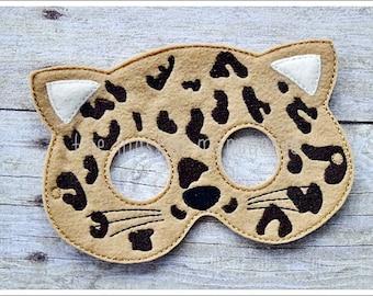 Cheetah Mask Safari Masks Woodland Creatures Halloween Mask Stocking Stuffers Easter Pretend Play Creative Play Masks Felt Mask