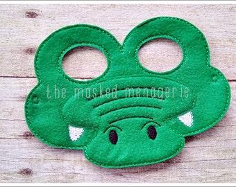 Alligator Mask Crocodile Mask Halloween Mask Pretend Play Creative Play Masks Felt Mask