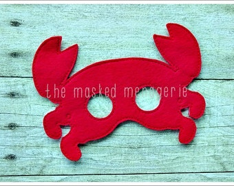 Lobster Mask Crab Mask Crayfish Mask Woodland Creatures Halloween Mask Stocking Stuffers Pretend Play Creative Play Masks Felt Mask