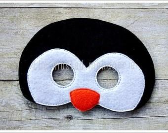 Penguin Mask  Arctic Animal Masks Halloween Mask Bird Mask Pretend Play Creative Play Masks Felt Mask Easter Basket