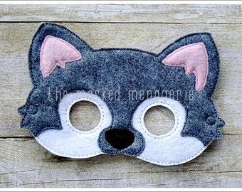 Grey Wolf Mask Big Bad Wolf Mask Halloween Mask Easter Basket  Pretend Play Creative Play Masks Felt Mask