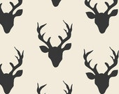 Buck Forest Night - Hello, Bear Collection by Bonnie Christine - Art Gallery Fabrics - Premium Quilting Cotton - One Yard Fabric