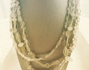 Ice Maiden Triple Strand Necklace