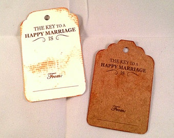 Advice for the bride and groom tags, Vintage Tag, mini cards, 50 Wedding cards, Personalized Tags