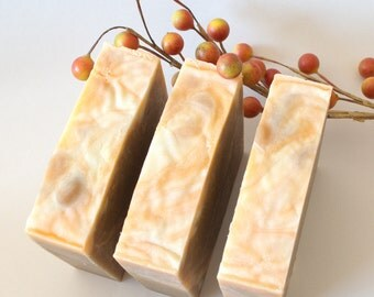 Pumpkin Spice Soap, Made With Pumpkin Puree, Palm Free Soap,  Vegan Soap, Oatmeal Soap Bakery Scented Holiday Soap, Facial Soap, Foodie Gift