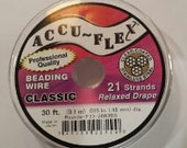Accu-Flex 21 Strand .019 Clear Coated Stainless Steel  30ft