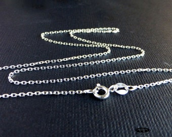 2 pcs 18 in. 1mm Thin Danty 925 Sterling Silver Diamond Cut Chain Necklace FC1