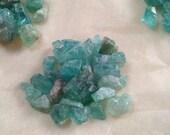 Gemmy Rough/Raw Cornflower Blue Apatite Crystal Parcels