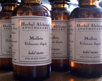 Mullein Leaf Herbal Tincture, Organically Grown