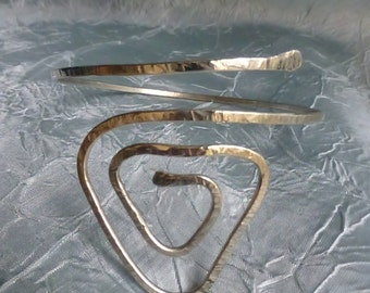 Triangle Upper Arm Cuff , Armlet, Armband-  Brass, Copper or Silver