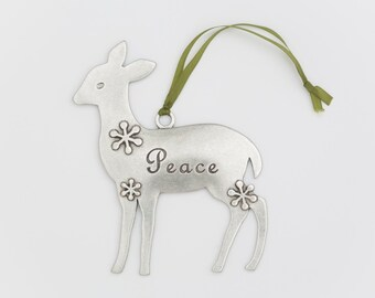 deer ornament - peace