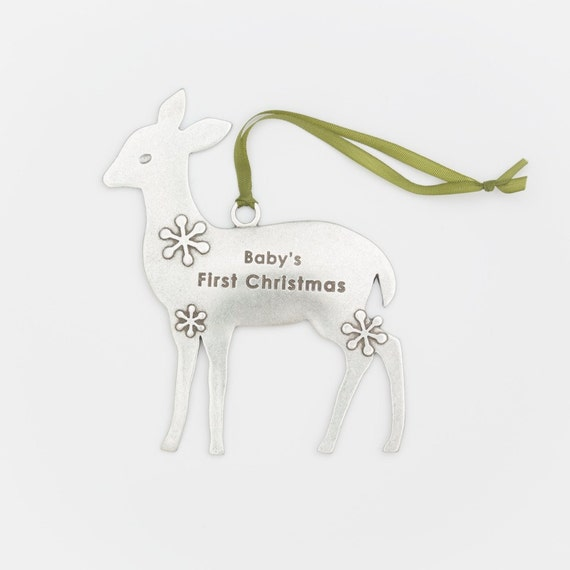 deer ornament - baby's first christmas
