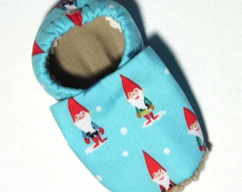 Winter Gnomes Soft Soled Baby Shoes