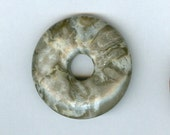 32mm Turatella Agate PI Donut Pendant Bead 924