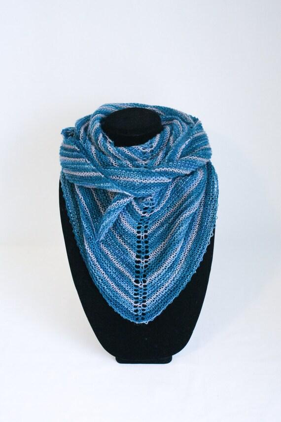 Knitting Items To Sell : Crassula shawl knitting pattern striped modern