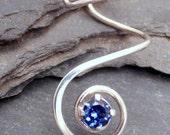 Sterling Ear Cuff - VORTEX - Handcrafted Silver 925 Sapphire Earcuff