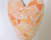 mosaic heart refrigerator magnet peach