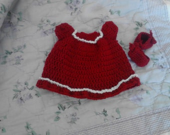 Dark Red Nigtht Gown For My 6.5in Curly Girl Doll