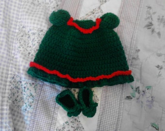Green Night Gown For My 6.5in Curly Girl Dolls
