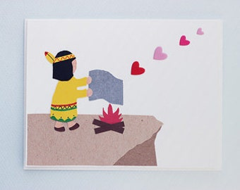 Smoke Signals Love - print card by Emily Lin
