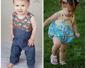 Baby Romper or Bubble Pattern - Long or Short PDF Sewing Pattern