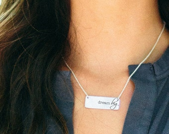 large ID inspired necklace | PERSONALIZED