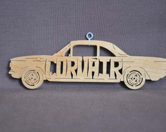 Corvair Vintage  Car Decoration Ornament Scroll Saw Wood Cut Out