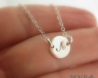 Petite Initial Bracelet.  Sterling Silver Bracelet. Friendship. Bridesmaids Jewelry. Mom Bracelet