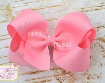 """4"""" Basic Bow - Hair Bow - Your Color Choice"""