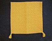 Dollhouse Miniature Bedspread in Gold with Tassels