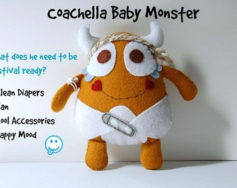 Coachella Baby Monster Plush Toy / Stuffed Eco Friendly Toy