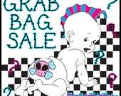 Random Grab Bag for Punk Baby or Toddler Girl Boy Unisex Skull Guitar Rock n Roll Chevron Blanket Pacifier Bib boppy nursing cover SURPRISE