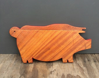 1950's Pig Cutting Board - Made by Tom