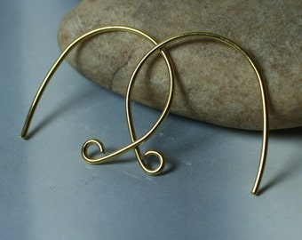 Handmade gold plated earwire size 22x22mm 20g thick, 10 pcs (item ID YHFHGP)