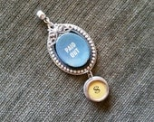 PAID OUT - Antique Typewriter and Cash Register Key Pendant