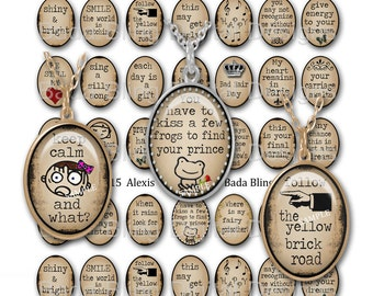 22mm x 30mm,  Make Me Smile,   INSTANT Digital Download at Checkout, collage sheets for jewelry, word pendants, funny quotes