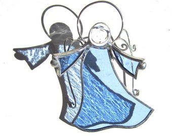 You Pick Any Color - 3D Stained Glass Dancing Angel - Hanging Suncatcher Religious Christmas Ornament Home and Garden Decor (MADE TO ORDER)