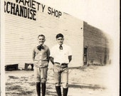 vintage photo 1914 Pete & Verne Freshmen High School Back to School Clothes style