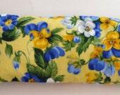 Yellow Pansy Aromatherapy Eye Pillow, Lavender Scented Eye Pillow with Removable Cover, Scented Eye Pillow