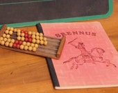 Fun lot of vintage school supplies including Wood Bead Abacus and French Notebook