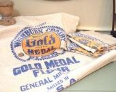 Vintage cotton flower Sack Gold Medal Logo Free Shipping Last One