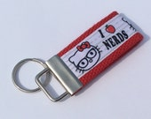 Mini Key Fob    ribbon / fabric on heavy cotton webbing  Buy 3 Get 1 Free